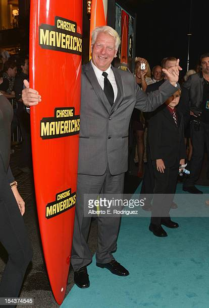 """Surfer Frosty Hesson arrives to the premiere of 20th Century Fox's """"Chasing Mavericks"""" on October 18, 2012 in Los Angeles, California."""