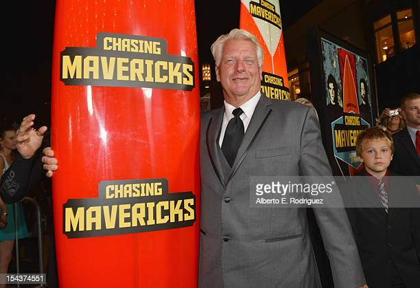 Surfer Frosty Hesson arrives to the premiere of 20th Century Fox's Chasing Mavericks on October 18 2012 in Los Angeles California