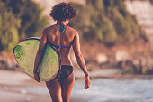 http://www.istockphoto.com/photo/surfer-girl-walking-with-surfboard-on-the-beach-at-sunset-gm822814208-133646173