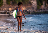 http://www.istockphoto.com/photo/surfer-girl-walking-with-surfboard-on-the-beach-at-sunset-gm822821468-133116771