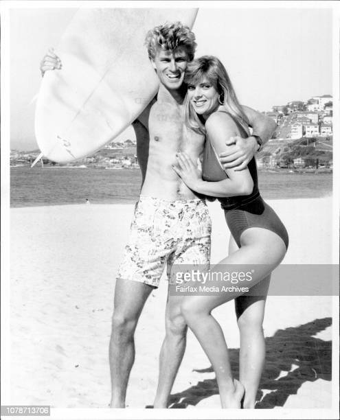 Surfer Greg Day with model Lana at Coogee BeachInternational surf star Greg Day is great judge of talent on the beach and in the surf and it's...