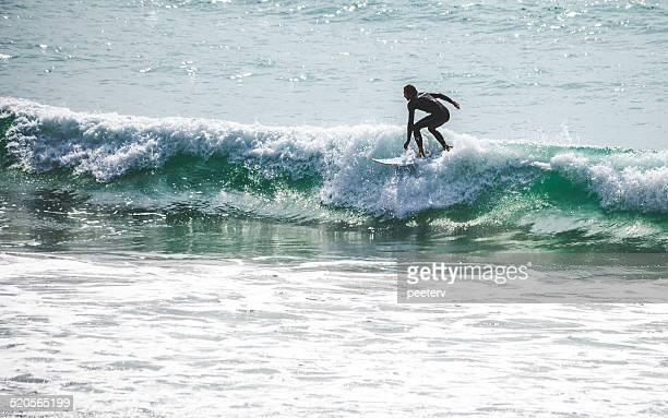 Surfer in action.