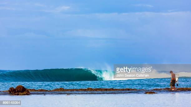 Surfer in North Sumatra