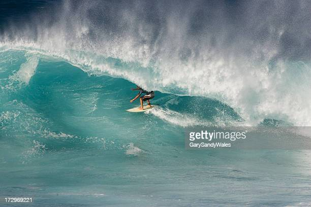 Surfer in the curl