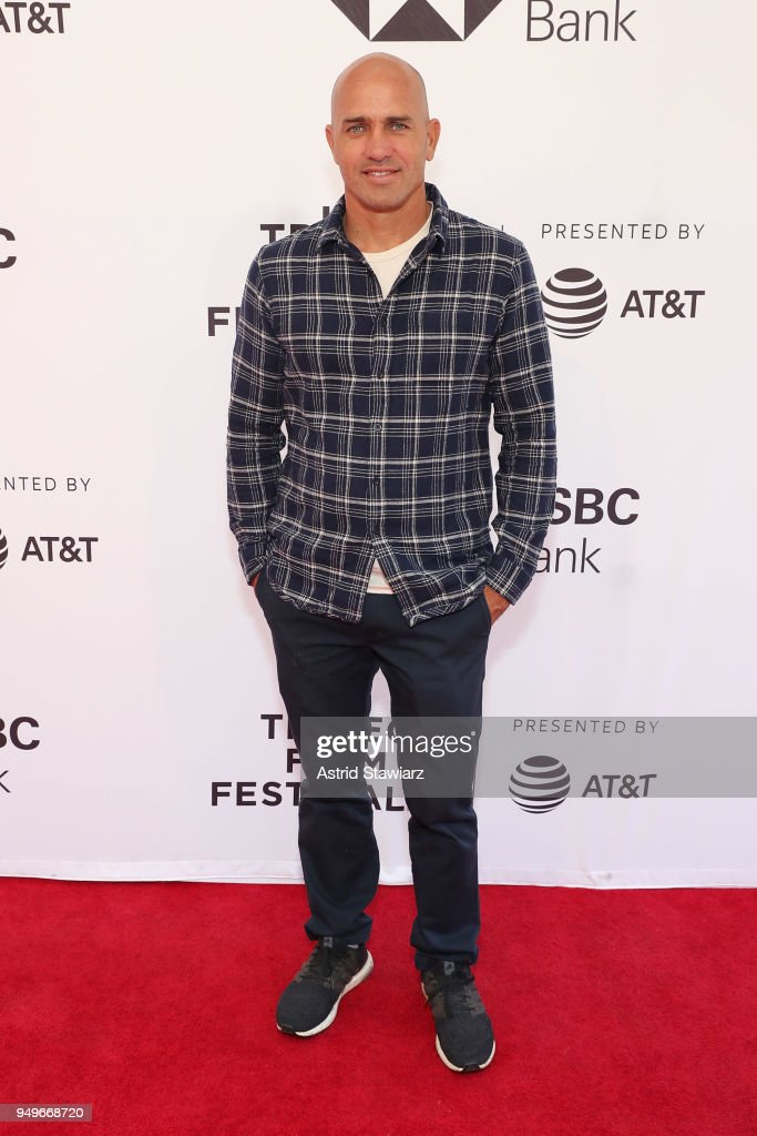 Surfer Kelly Slater attends a screening for 'Momentum Generation' during te 2018 Tribeca Film Festival at SVA Theatre on April 21, 2018 in New York City.