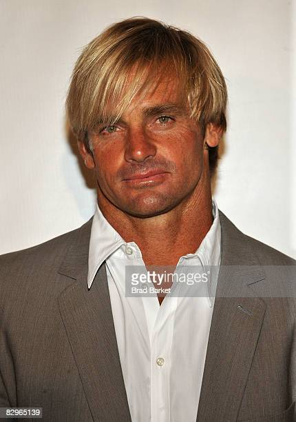 Surfer Laird Hamilton attends the 23rd Annual Great Sports Legends Dinner to Cure Paralysis at the Waldorf Astoria on September 22 2008 in New York...