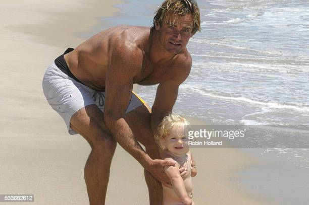 Surfer Laird Hamilton with Daughter Reece