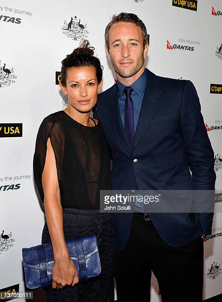Surfer Malia Jones and actor Alex O'Loughlin arrive at the 9th Annual G'Day USA Los Angeles Black Tie Gala at the Hollywood Highland Grand Ballroom...