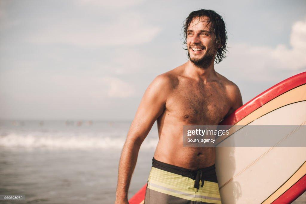 Surfer-Mann : Stock-Foto