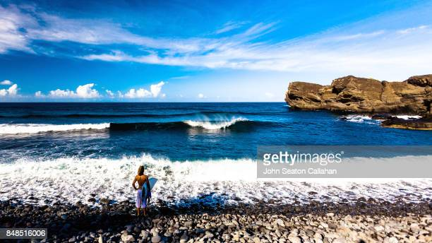 Surfer on Anjouan Island