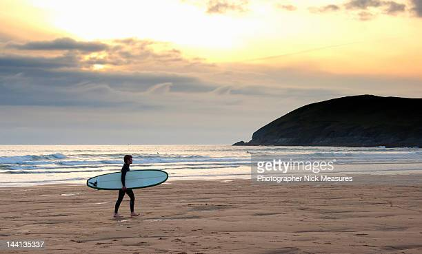 surfer - devon stock pictures, royalty-free photos & images