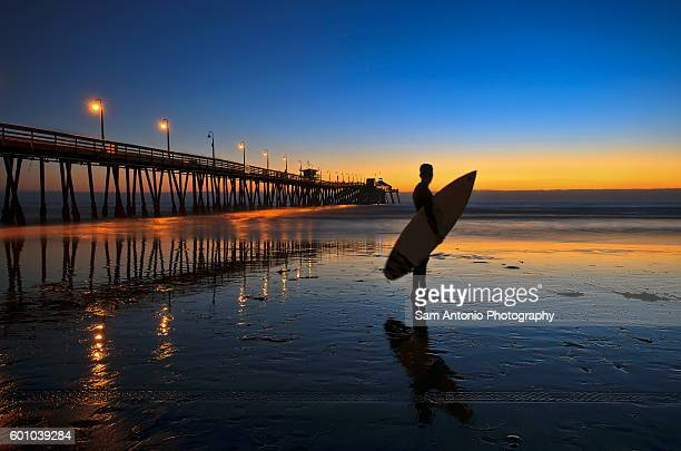 Surfer Silhouette At The Imperial Beach Pier