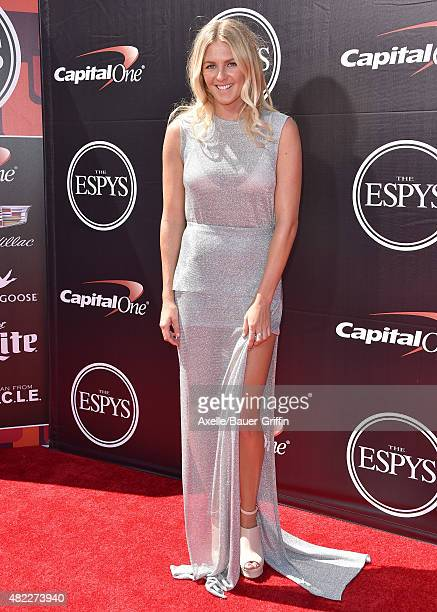 Surfer Stephanie Gilmore arrives at The 2015 ESPYS at Microsoft Theater on July 15 2015 in Los Angeles California