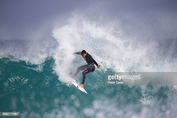 surfer , surfing a big wave.