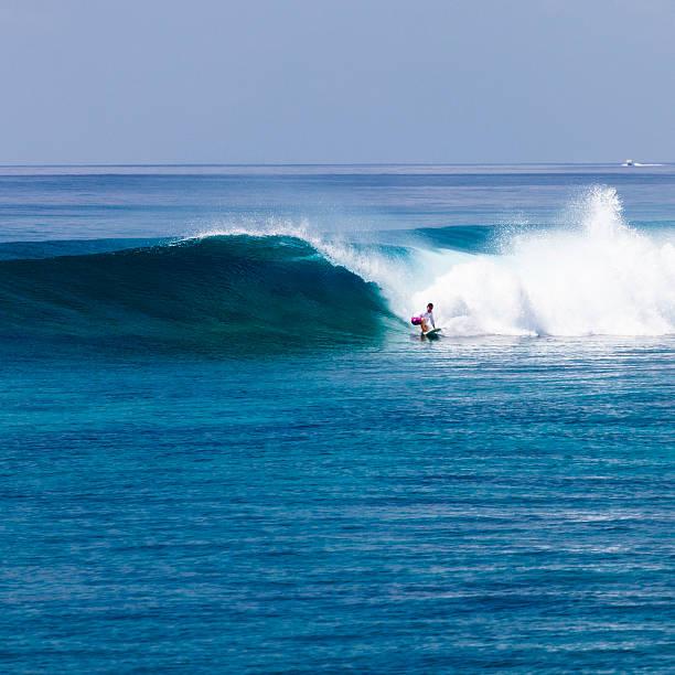Surfer surfing a wave