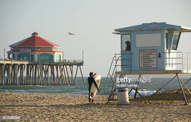 Surfer Talking to Lifeguard