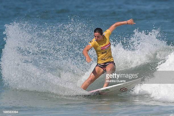 Surfer Tyler Wright in action during the Billabong Rio Pro at Barra da Tijuca Beach on May 11 2013 in Rio de Janeiro Brazil