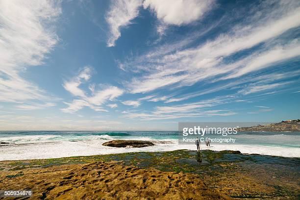 Surfers at Tamarama Beach, Sydney Australia