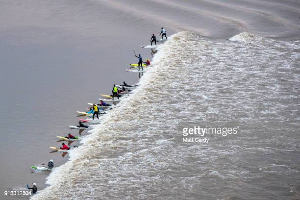 30 Top Surfers Ride The Severn Bore Pictures Photos And