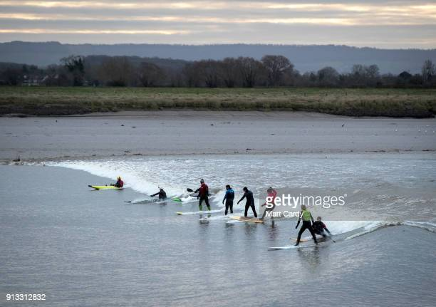 60 Top Surfers Ride The Severn Bore Pictures Photos