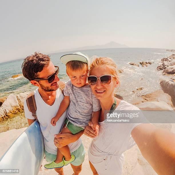 Surfer's family
