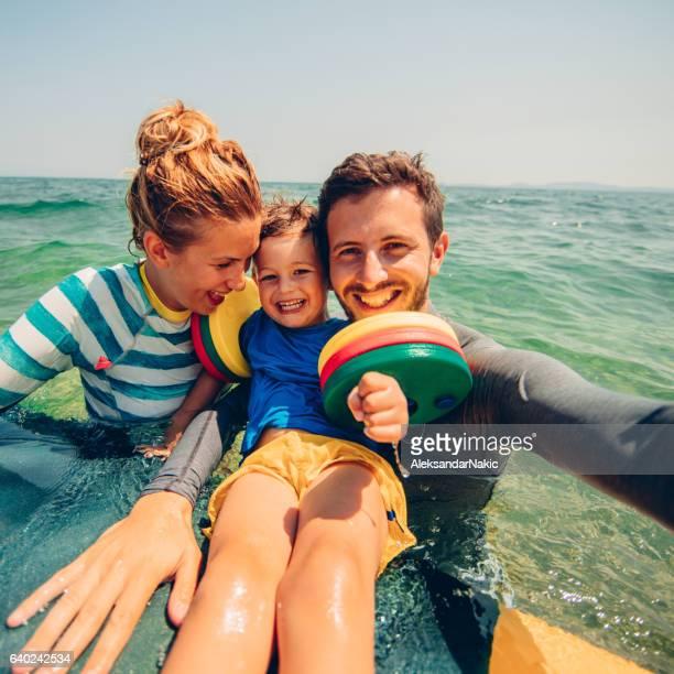 Surfer's family selfie