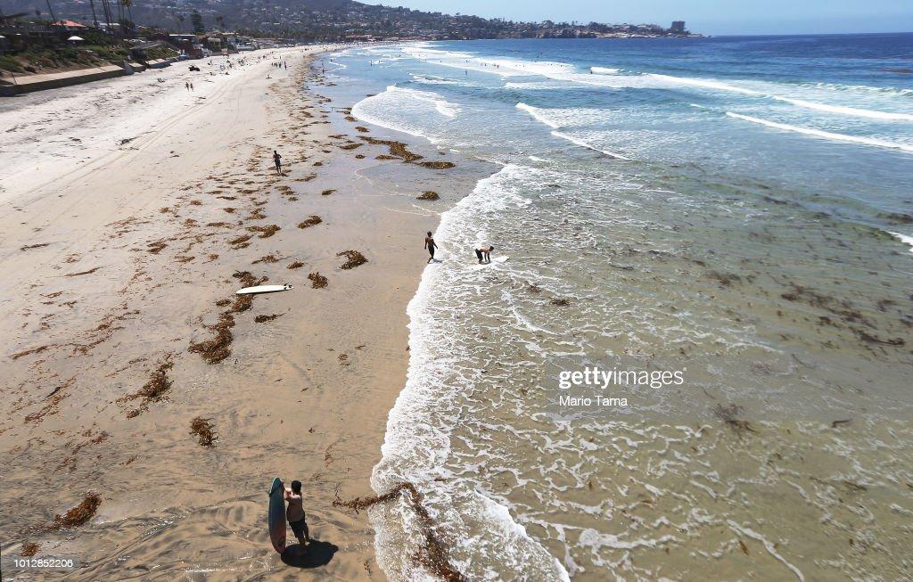 Southern California Ocean Temperatures Reach Record Highs : News Photo