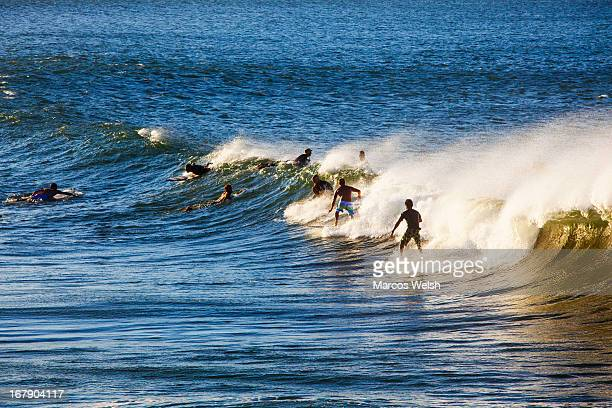 Surfers in The Pass, Byron Bay, NSW, Australia
