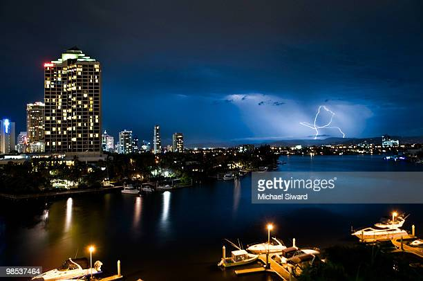 surfer's lightning - michael siward stock pictures, royalty-free photos & images