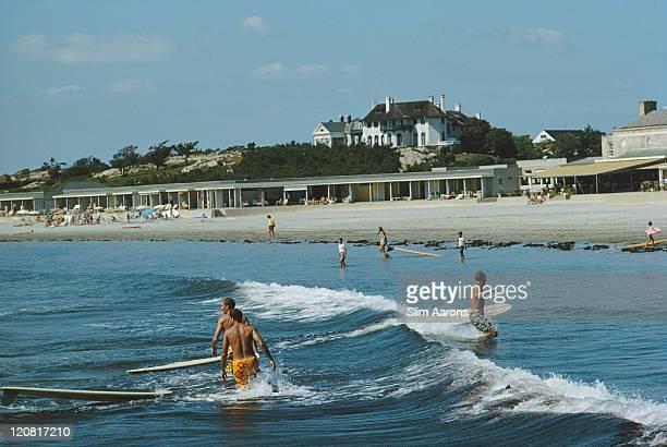 Surfers off Rhode Island September 1965