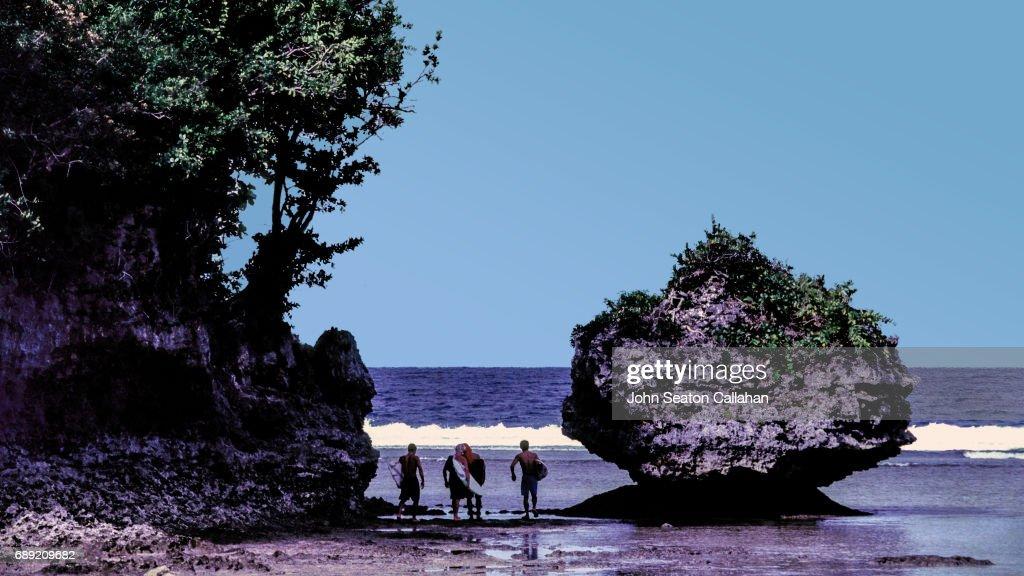 Surfers on Siargao Island : Stock Photo