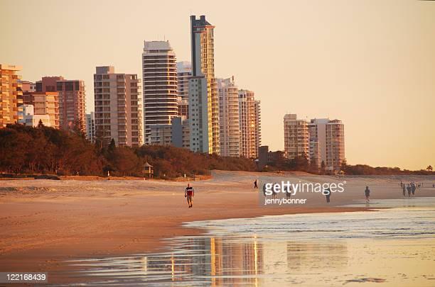 Surfers Paradise coastline at dawn, Queensland, Australia