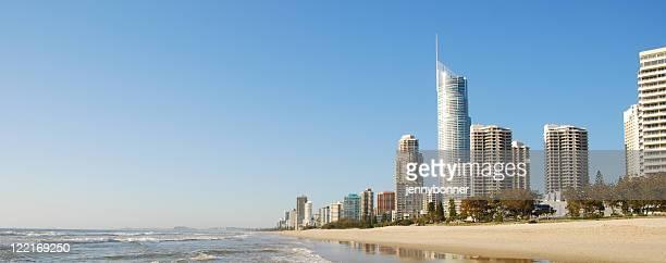 surfers paradise, gold coast, queensland, australia,coastline - gold coast stock pictures, royalty-free photos & images