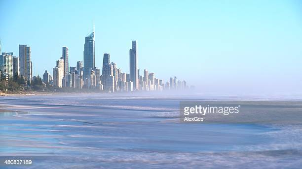 Surfer's Paradise seen from Miami Park overlook, Gold Coast, queensland, Australia
