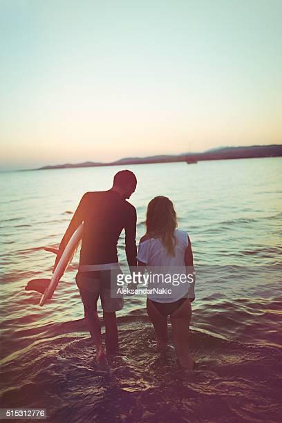 Surfer's romance