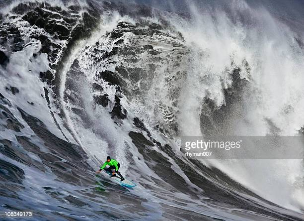Surfing a Huge Wave