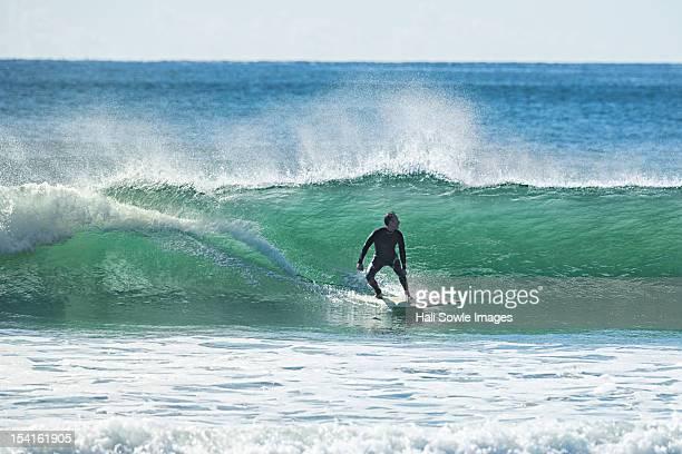 Surfing at beach
