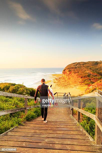 Surfing at Bells Beach near Torquay, Victoria, Australia, South Pacific