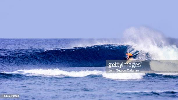 Surfing at Cloud 9 on Siargao Island
