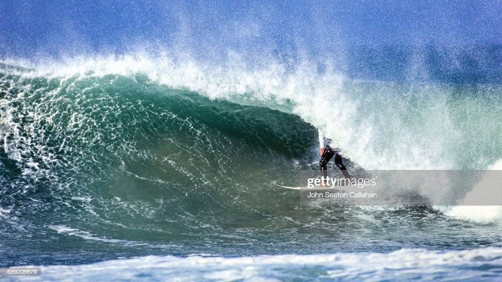 Surfing at Jeffrey's Bay : Stock Photo