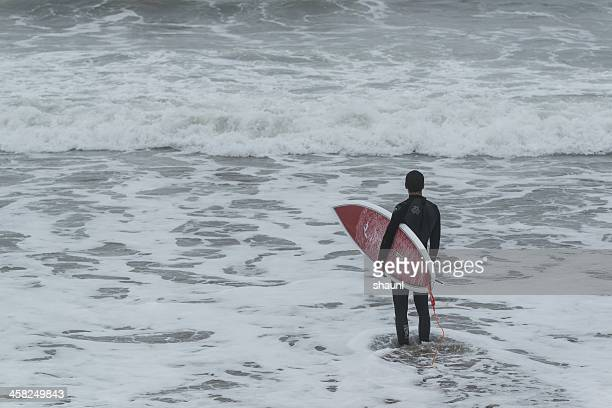 Surfing at Lawrencetown Beach