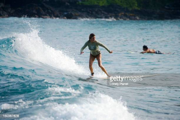 Surfing at Lyman's Beach, Kailua Kona.