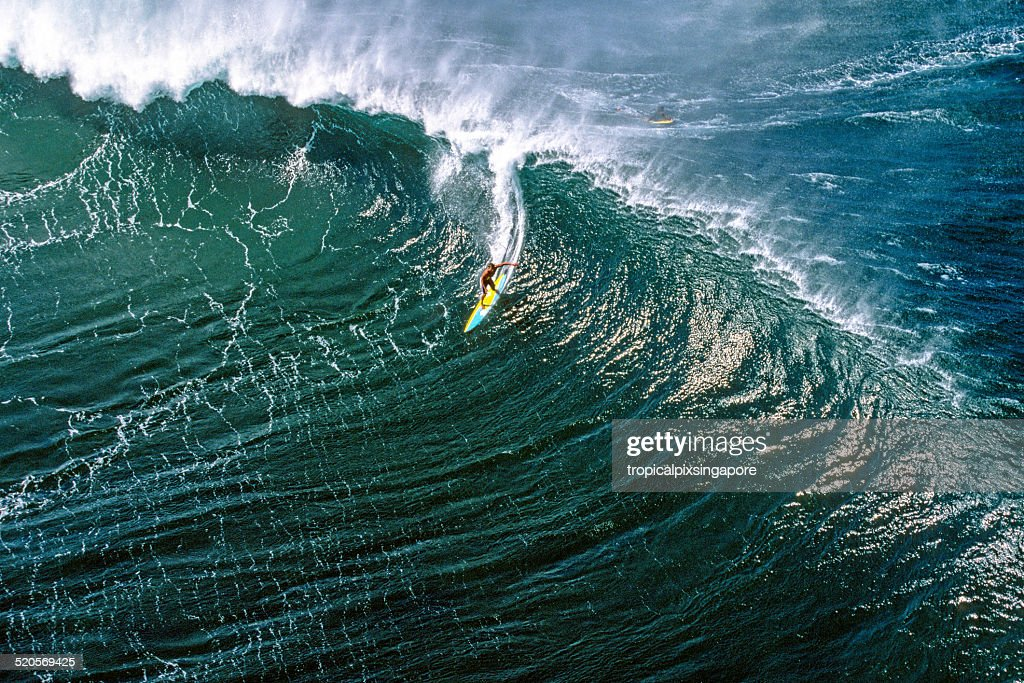 Surfing at Pipeline : Stock Photo