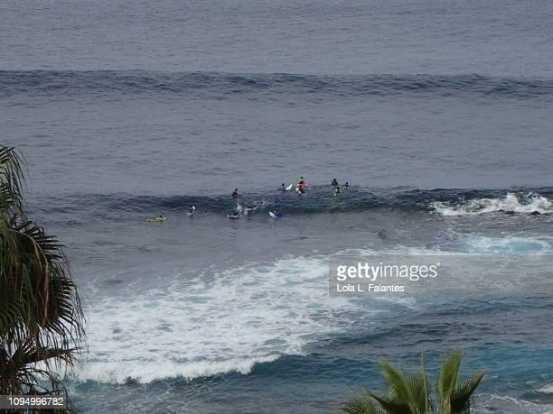 Surfing class, Punta del Hidalgo, Tenerife