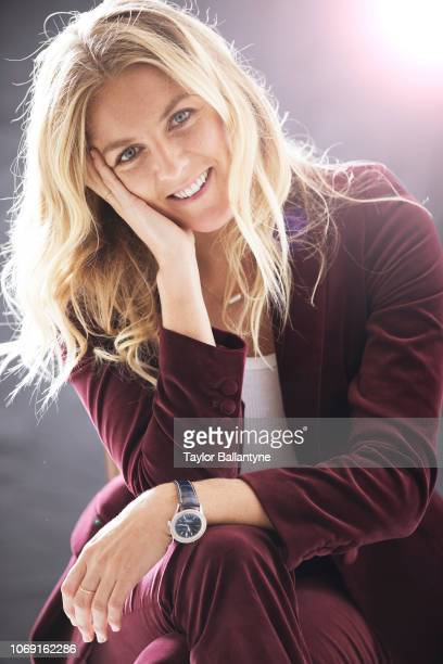 Closeup portrait of seven-time Women's ASP World Tour champion Stephanie Gilmore posing during photo shoot at Meredith Studios. New York, NY...