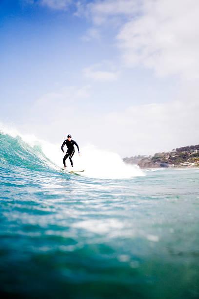 Surfing in La Jolla, California