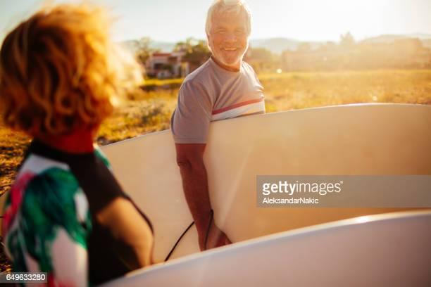 Surf dans les années tardives