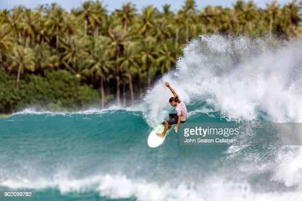 Surfing in North Sumatra
