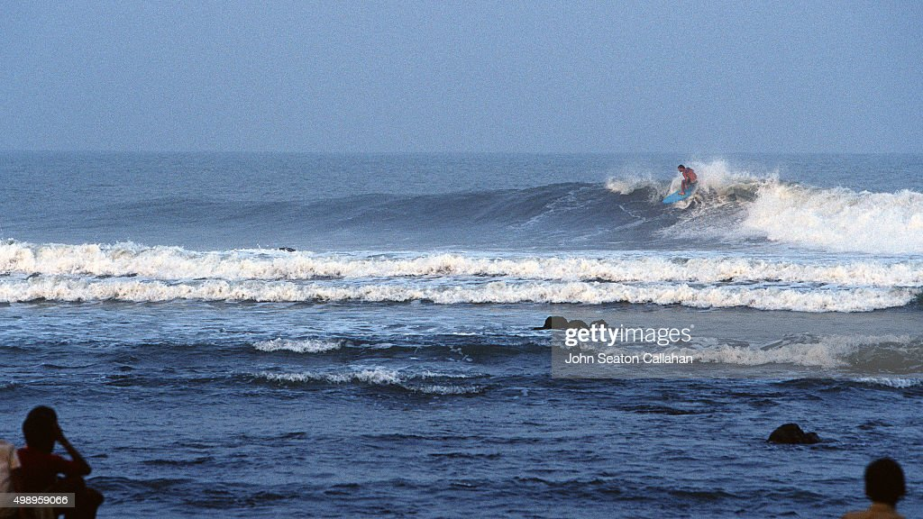 Surfing in the Bay of Bengal : Stock Photo