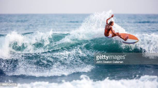 surfing in the caribbean sea - surf stock pictures, royalty-free photos & images